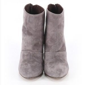 J.Crew Grey Suede Leather Adele Booties Boots 7 M